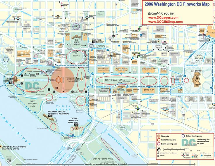 map of washington dc Home Washington DC Fourth of July