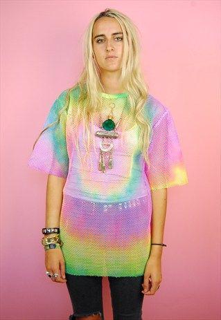 SUPERNICE Mesh Tie Dye T-shirt