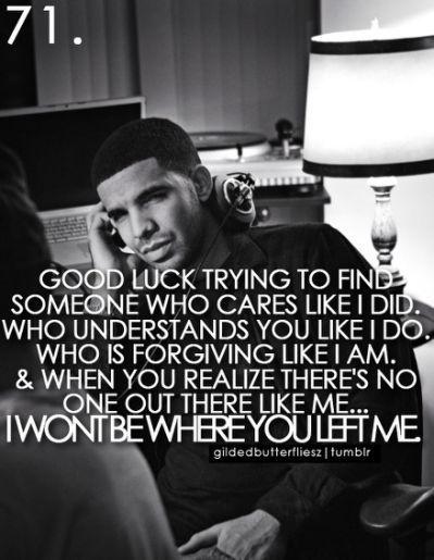 Drake Lyrics Tumblr Quotes