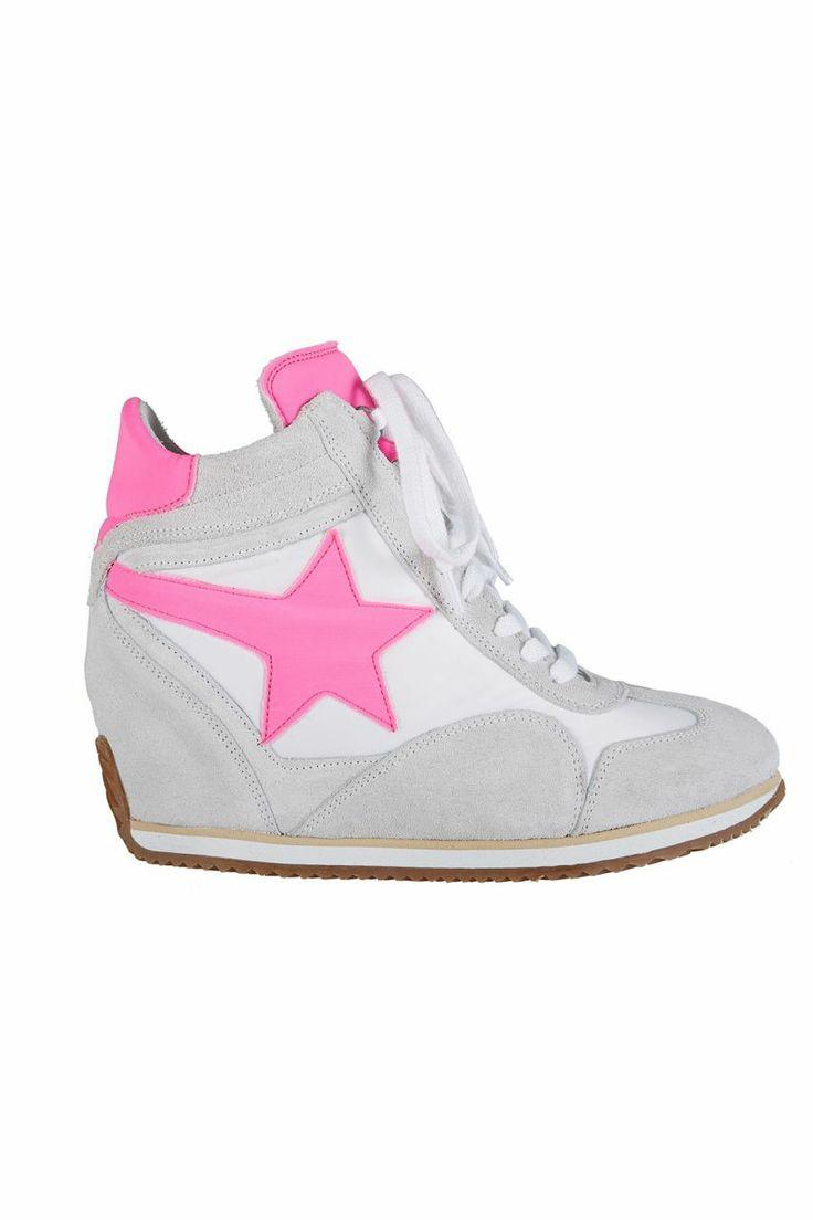 Dolgu Topuklu Spor Ayakkabı - Pembe Yıldız | Trendy Topuk | Trendy Topuk | Ayakkabı | 150 TL ve üzeri alışverişlerinizde Kargo ücretsiz