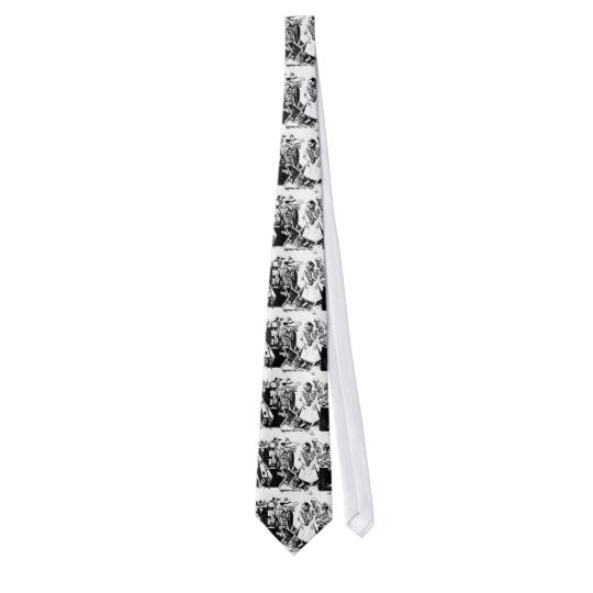 Vintage Posada Mexican Skeleton Dance Tie