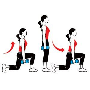 Lunges... Great for legs and butt! Get up and lunge today!