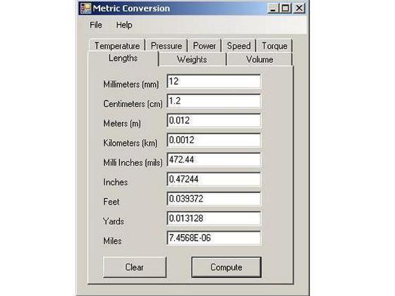 Metric Conversion Calculator 1 Full Screenshot