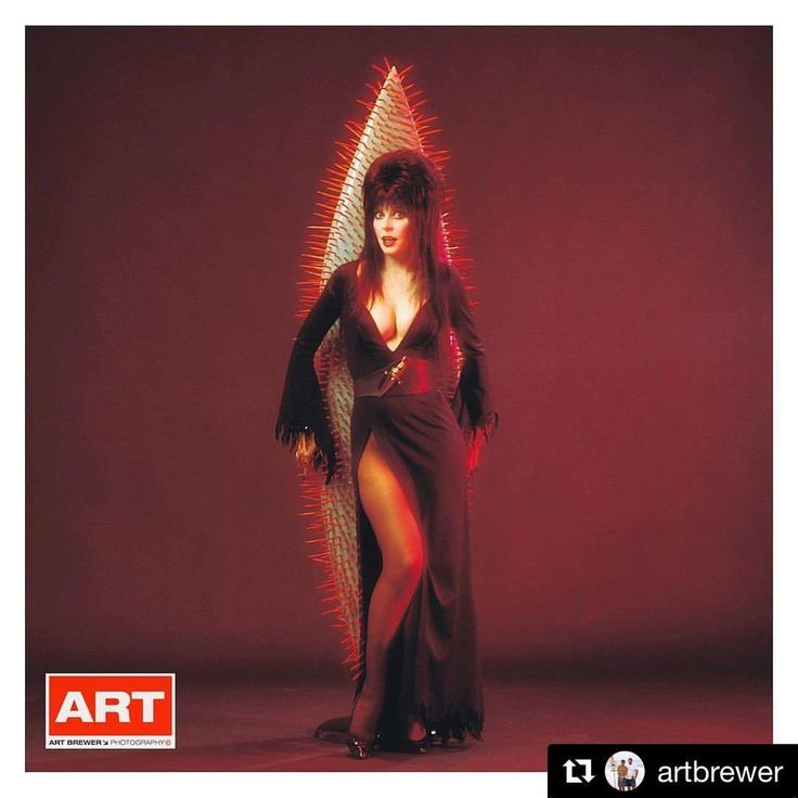 """Repost @artbrewer Mistress of the Dark the """"Real Elvira"""" with a Peter Schroff surfboard for Surfer magazine's """"Beach Culture"""" magazine,1990, PRS studios, Los Angeles…"""