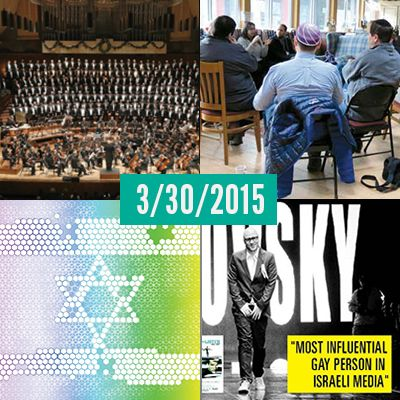 Some of today's top Jewish/LGBT stories: San Francisco Gay Men's Chorus performs gay-Holocaust love story *** Eshel holds retreat for Orthodox parents of LGBT Jews *** Why Israel provides a model for LGTBQ rights other nations should follow? *** Gal Uchovsky is coming to America! ***  Today's headlines: http://awiderbridge.org/category/news/