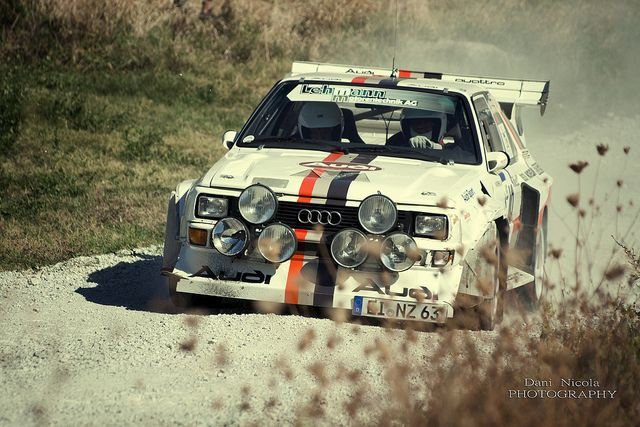 I just love mud flying off my car. Like this photo of an Audi Quattro for that reason.