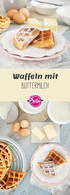 Hier ist ein Grundrezept für köstliche Waffeln mit Buttermilch!
