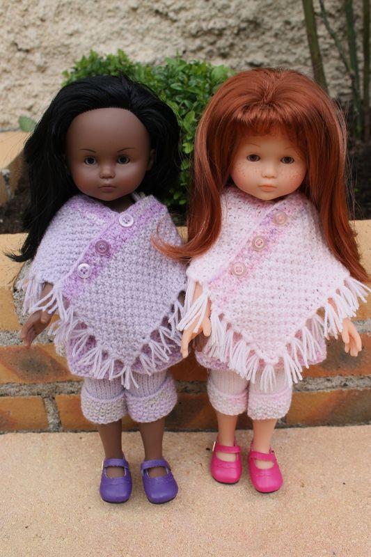 Une balade pour Chrystal + tuto poncho pour poupée corolle ou paola reina (32 cm).