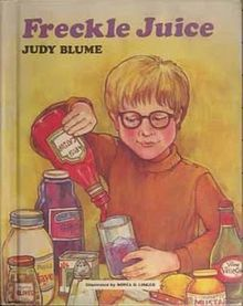 Another of my favorites // Freckle Juice book cover.jpg Blume, J. 1978. Freckle Juice. Yearling
