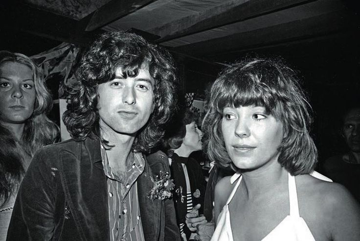 Jimmy page with Pamela des Barres 1973
