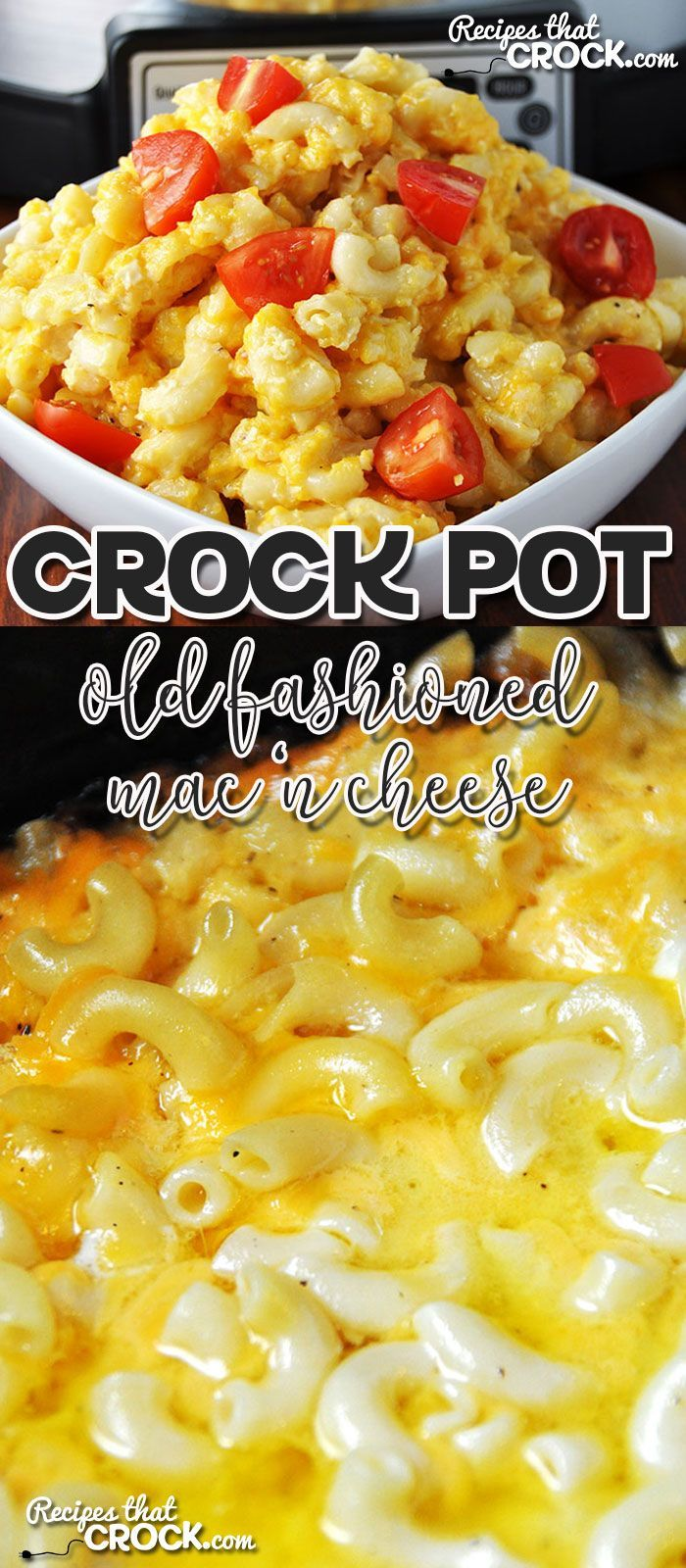 This Old Fashioned Crock Pot Mac 'n Cheese is incredibly easy to make and will…