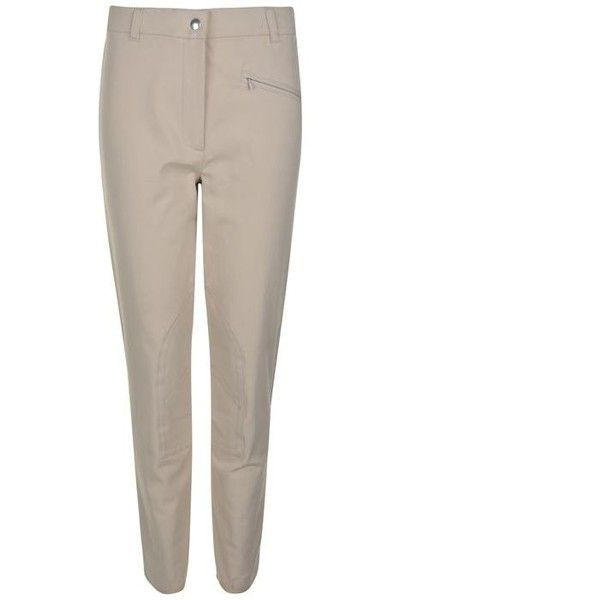 Belstaff Riding Stretch Skinny Trousers ($43) ❤ liked on Polyvore featuring pants, capris, stretch trousers, white trousers, riding pants, zipper pants and white zipper pants