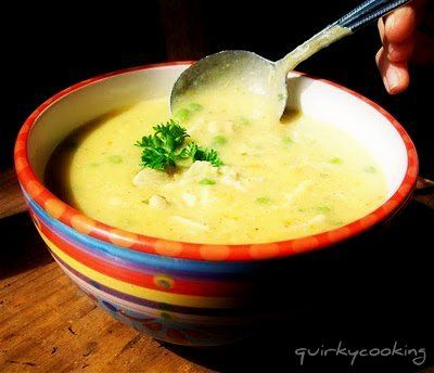 Creamy chicken and brown rice soup - easy to make low sals