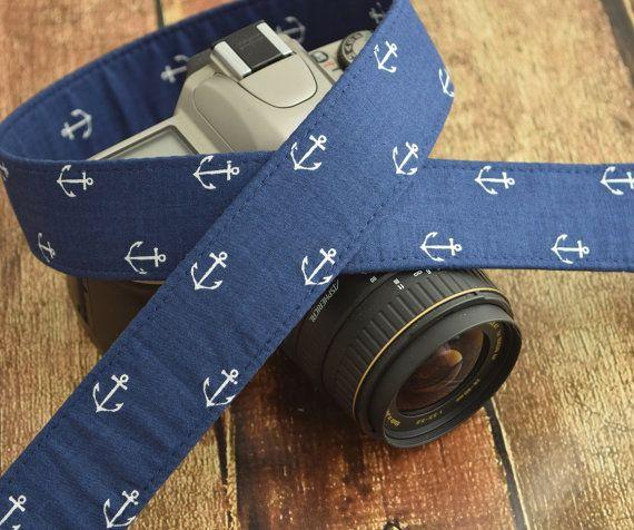 Ancre bleu marine caméra courroie  courroie par TheSweetStrap