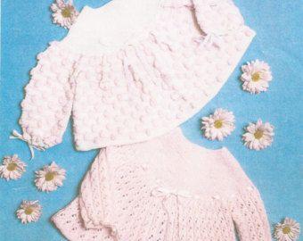 Vintage Knitting Baby Boy/Girl Pram Set Knitting by georgie8109