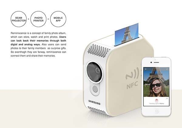 Reminiscence Digital Photo Album with Photo Printer and Beam Projector