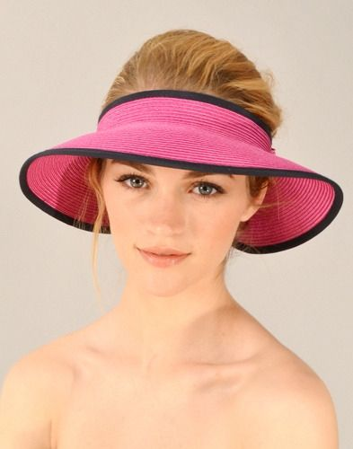 Love this #golf visor in pink and navy!    http://www.golf4her.com/Fairway-Fox-Lady-Golf-Visor-Pink-Navy-p/ff12-ladyv.htm