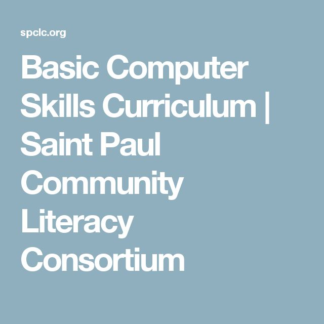 Basic Computer Skills Curriculum | Saint Paul Community Literacy Consortium