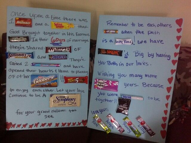Anniversary candy bar poem for grandparents
