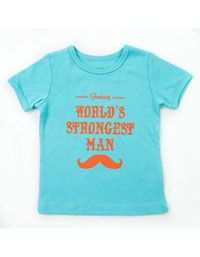 Lichtblauw Bastiaan T-shirt met oranje tekst - Lily-Balou