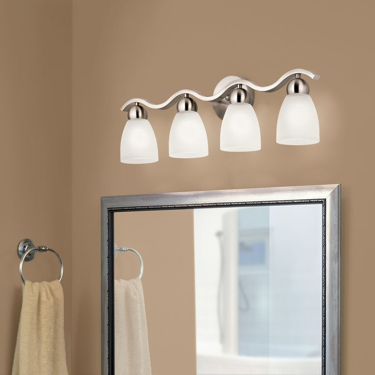 shop portfolio paces brushed nickel cone vanity light at loweu0027s canada find our selection of bathroom vanity lighting at the lowest price guaranteed with
