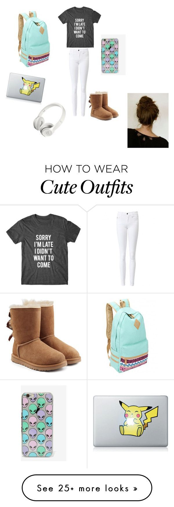"""""""Lazy school outfit"""" by cutething66866 on Polyvore featuring UGG Australia and Skinnydip"""