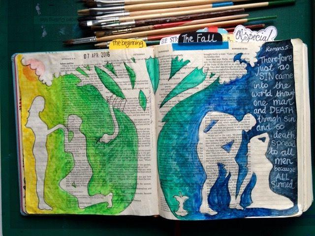 Falling. Genesis. Adam and Eve. Poem. Draw Close Blog. Bible art, Bible journal, journaling. Bible study, devotion.