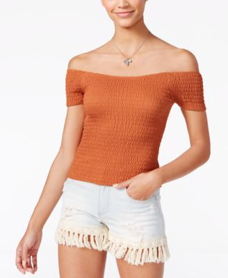 American Rag Smocked Off-The-Shoulder Top, Only at Macy's | macys.com