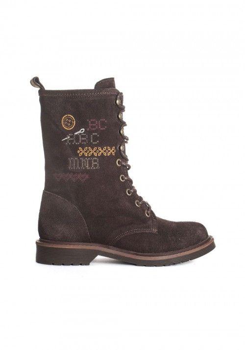 Marais Steel- Botin de caña media| Rubber sole Medium height boots| Bottines fermés par lacets | Stivaletto chiuso con lacci