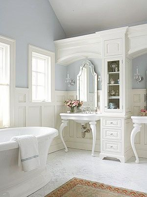 This is gorgeous- look at the sinks.  indulgy.com - ~Magical Home Inspirations~