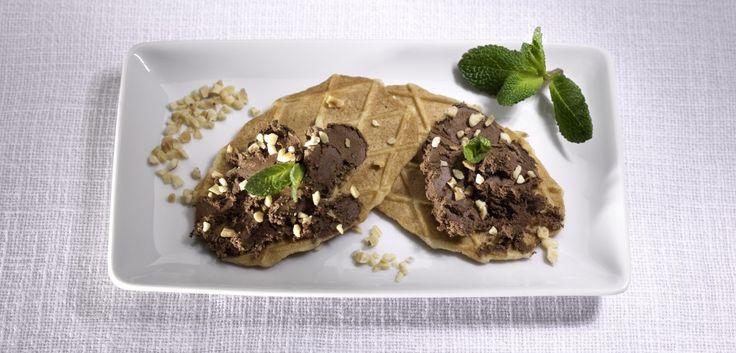 Cialde con crema al cioccolato