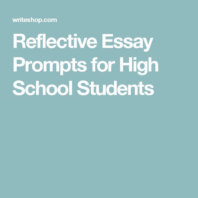 Tone of reflective essay prompts