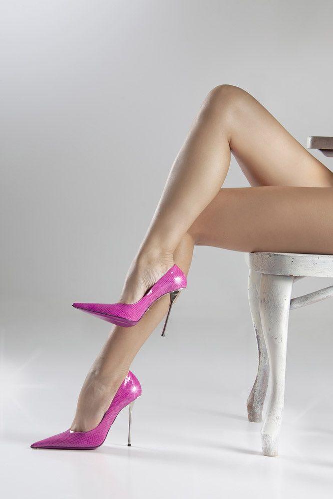 Anna Grigorenko by Gianmarco Lorenzi Pink Stiletto Heels & Long Legs