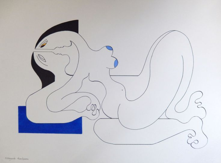 ARTFINDER: Affection by Hildegarde Handsaeme - Ink drawing & acrylic