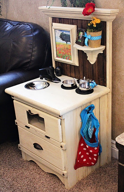 Another cute handmade play kitchen