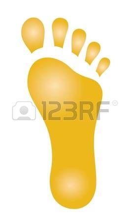 Resumen dibujo de una huella de un pie humano Foto de archivo
