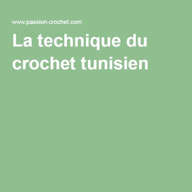 La technique du crochet tunisien
