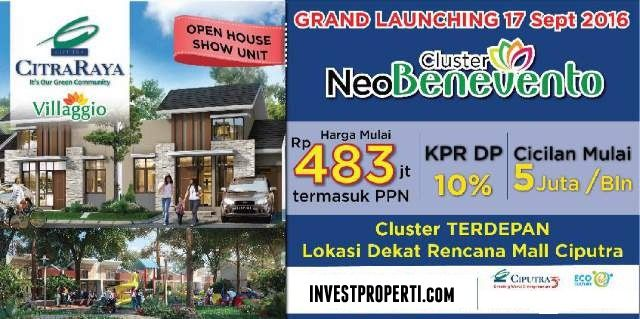 Launching Cluster Neo Benevento @ Villaggio CitraRaya