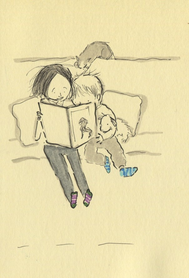 my nugget and I when reading <3