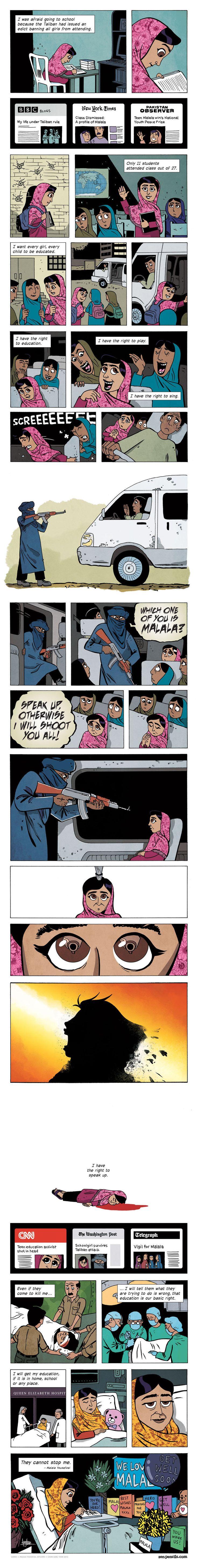 So beautiful. The words of Malala Yousafzai