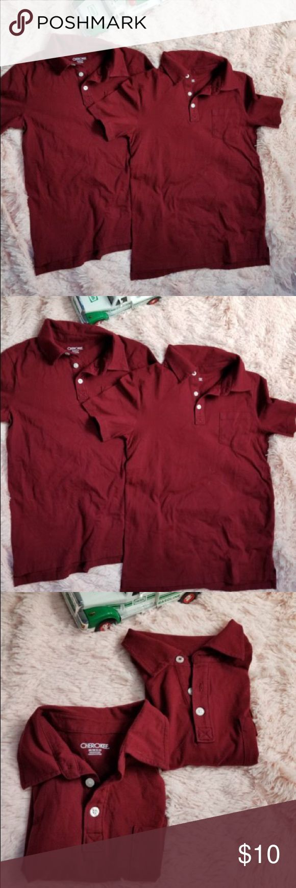 Cherokee Boys Size 8 Short Sleeve Red Shirts Inv-N.   shirts are in great condition.  Great for kids uniforms for school or just to wear anytime Cherokee Shirts & Tops Polos