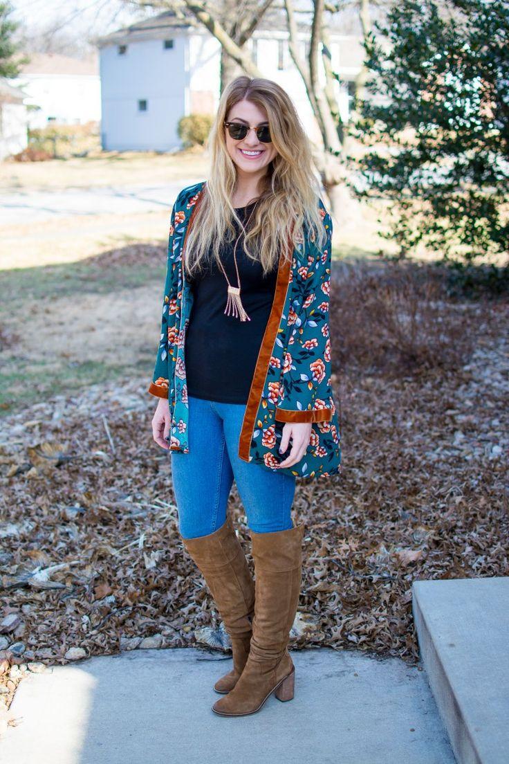 Winter Basics and Floral Booties - A Pocketful of Polka Dots