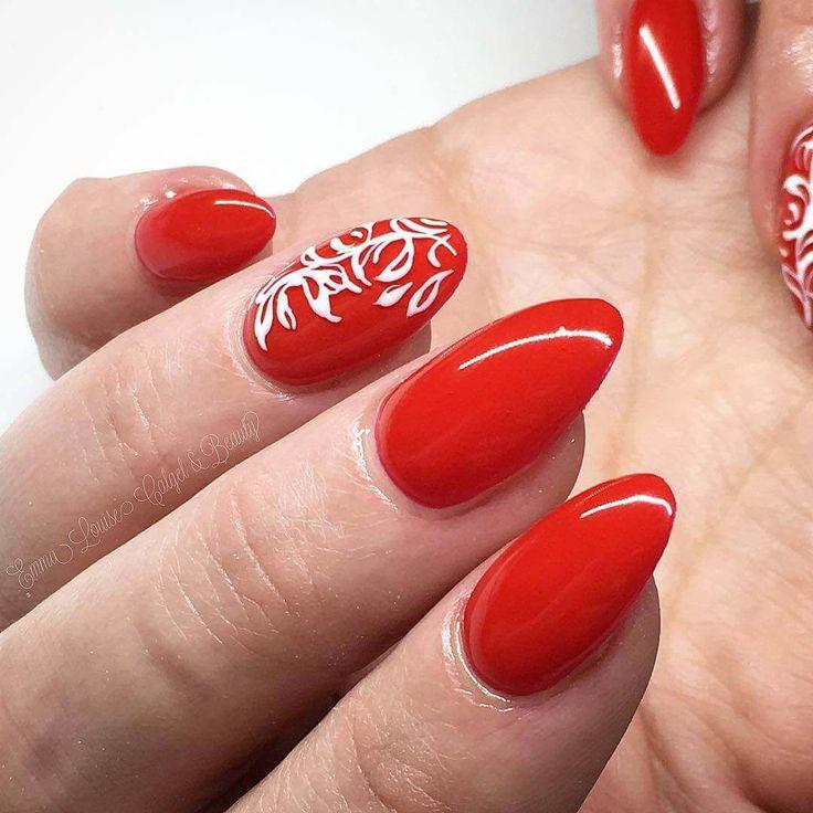 Mejores 167 im genes de red nails en pinterest rojo - Decoraciones de unas de gel ...