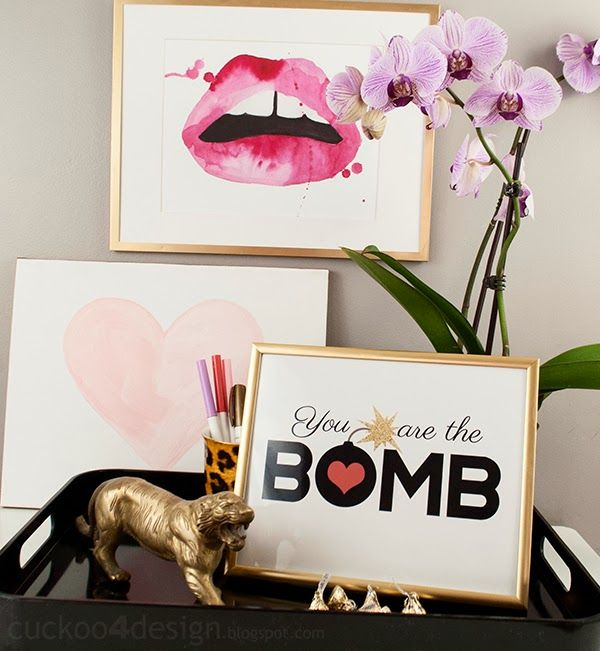 You are the bomb FREE Valentines Day printable