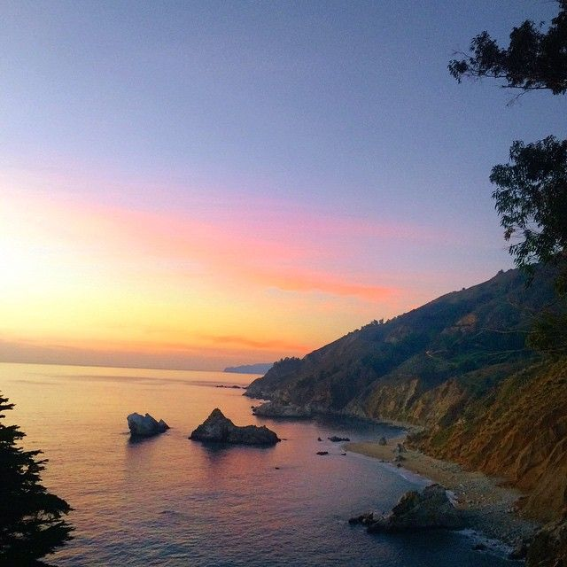 Sunset from Julia Pfeiffer Burns State Park. Photo courtesy of soybeanannie on Instagram.