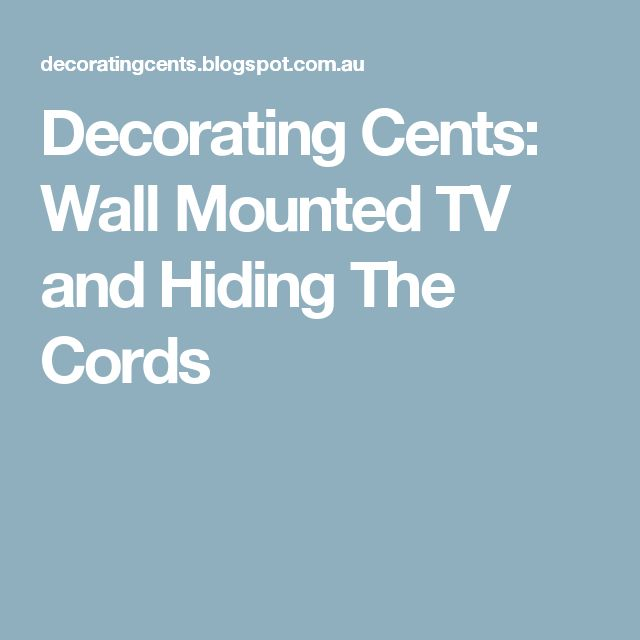 9 best TV images on Pinterest | Hanging tv, Wall mounted tv and Hide ...