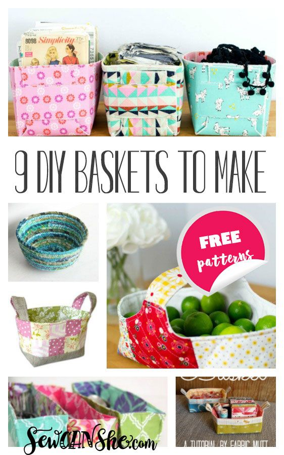 9 Must Make DIY Fabric Basket Patterns — SewCanShe | Free Sewing Patterns for Beginners