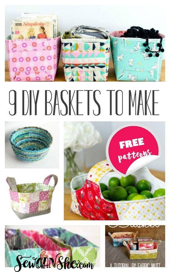 9 Must Make DIY Fabric Basket Patterns — SewCanShe   Free Sewing Patterns for Beginners