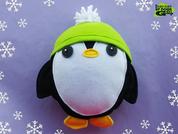 Cute Kawaii Black Christmas Penguin Plushie with Hat, Stuffed Winter Penguin Gift, Kawaii Penguin Pillow & Cushion #stuffedanimals #plushies #plush #designertoy #designerplushie #stuffedpenguin #plushiepenguin  #penguins #handmade #handmadeplushie #handmadestuffedanimals #kawaii #kawaiipenguin #kawaiiplushie