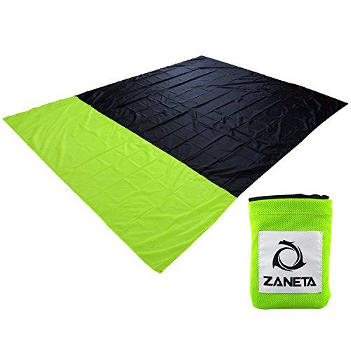 Beach Blanket , Sand Escape Compact Outdoor Picnic mat - Lightweight,Quick-drying,Puncture Resistant - Made From Strong Ripstop Parachute Nylon - Extra Large [7x 5 feet]